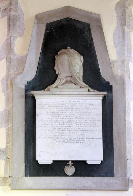 St Peter & St Paul, Peasmarsh, Sussex - Wall monument