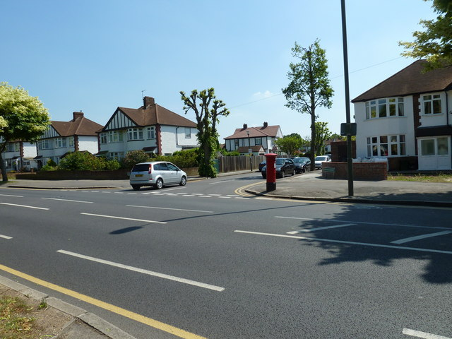 Postbox at the junction of Southborough Road and Oxhawth Crescent