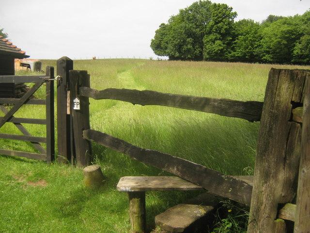 Footpath towards Sutton Hook Wood