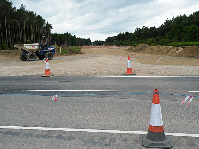 Fochabers Bypass Roadworks, Midsummer 2010 (9)