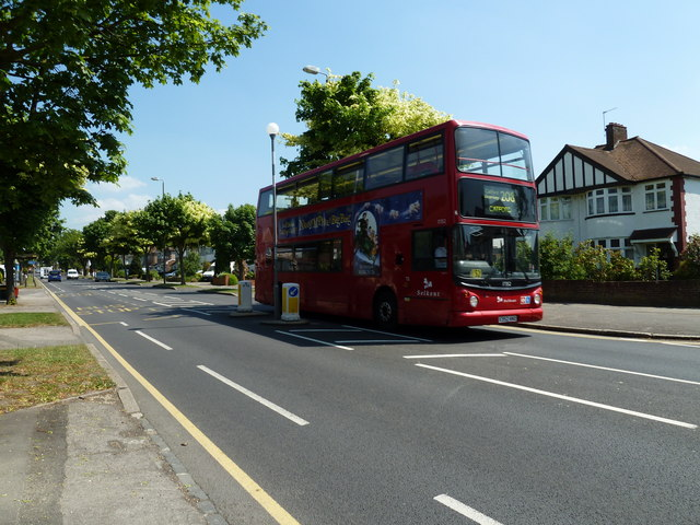 Catford bound bus in Southborough Road