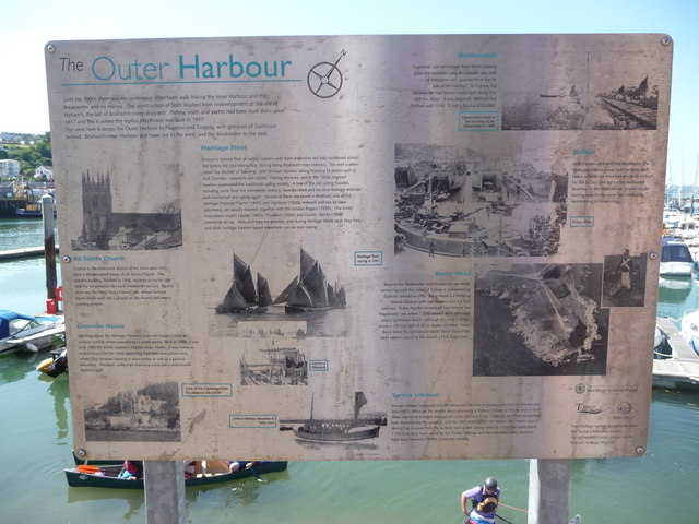 Brixham : The Outer Harbour Information Sign
