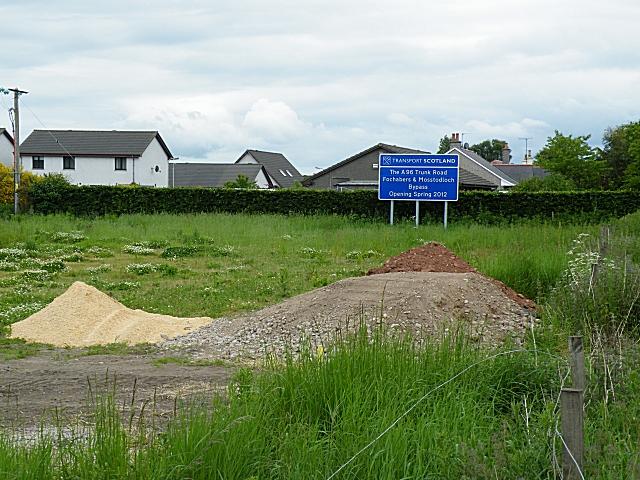 Fochabers Bypass Roadworks, Midsummer 2010 (16)