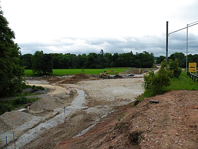 Fochabers Bypass Roadworks, Midsummer 2010 (17)
