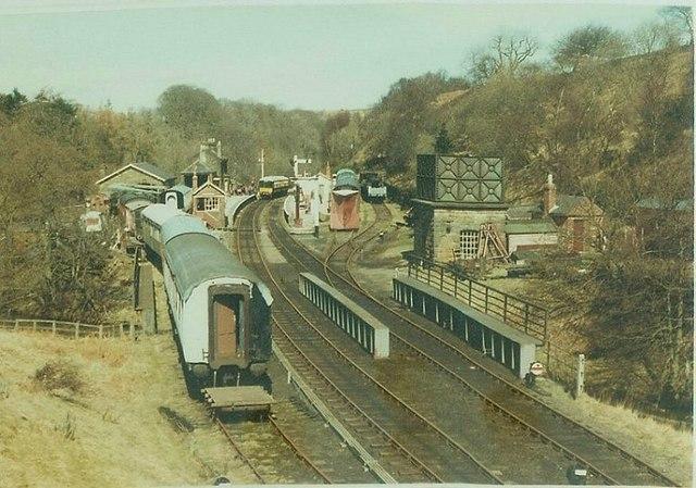 Goathland Railway Station in 1984