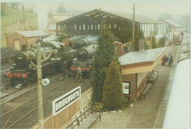Bridgnorth Railway Station in 1984
