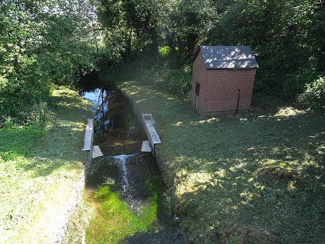 River gauging station on the Lonco Brook