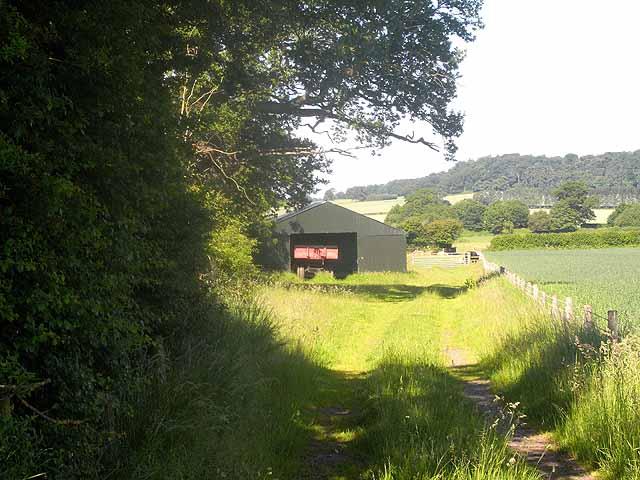 Barn near Forton