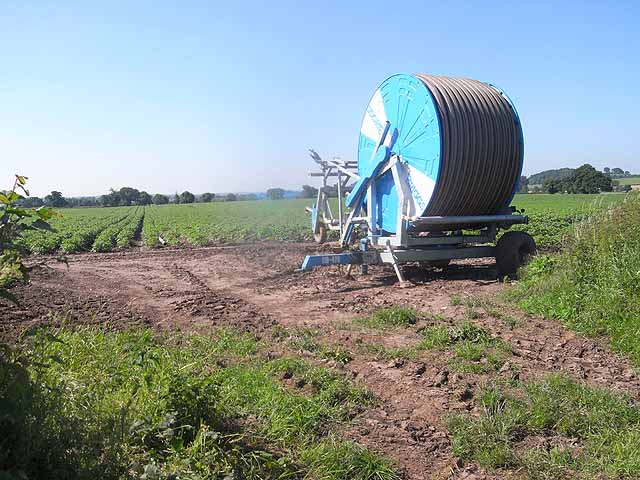 Irrigation equipment at Weston Jones Mill
