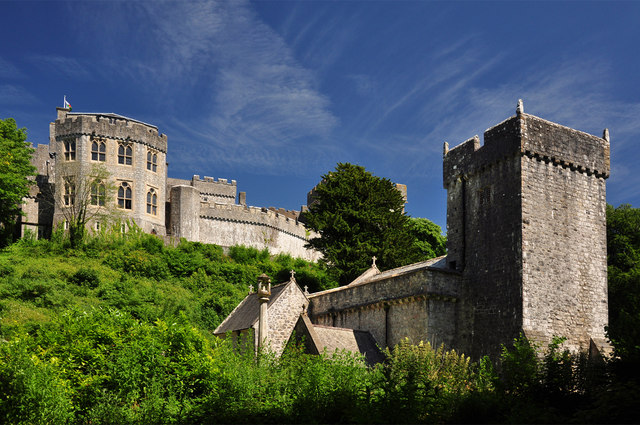 Church and castle - St Donat's