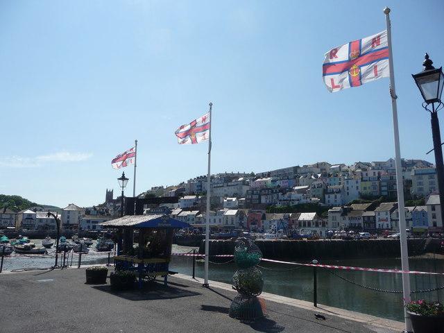 Brixham : Brixham Marina & RNLI Flags