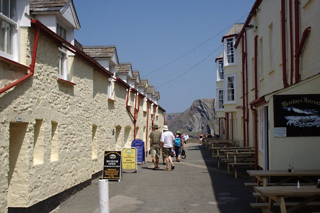At the Hartland Quay Hotel