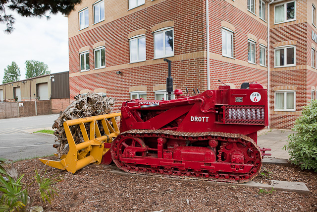 Bulldozer outside Raymond Brown head offices