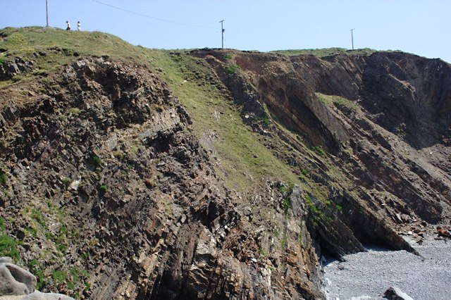 Cliffs to the South of Hartland Quay