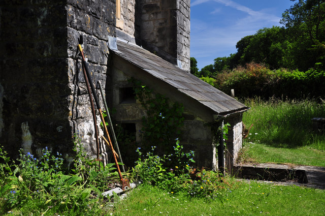 Sexton's shed - St Donat's Church
