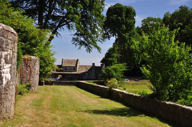 Terraced garden - St Donat's Castle