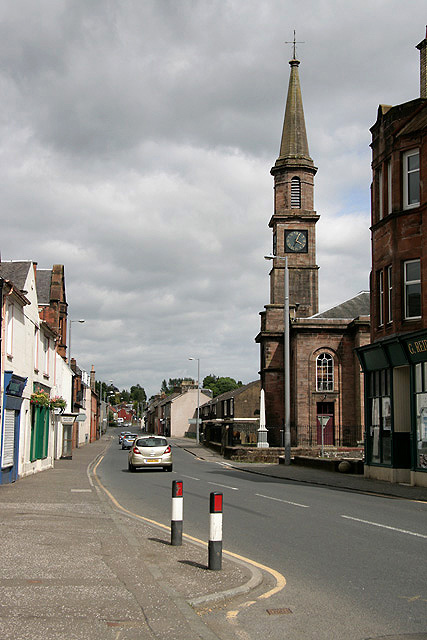 The A71 in Newmilns