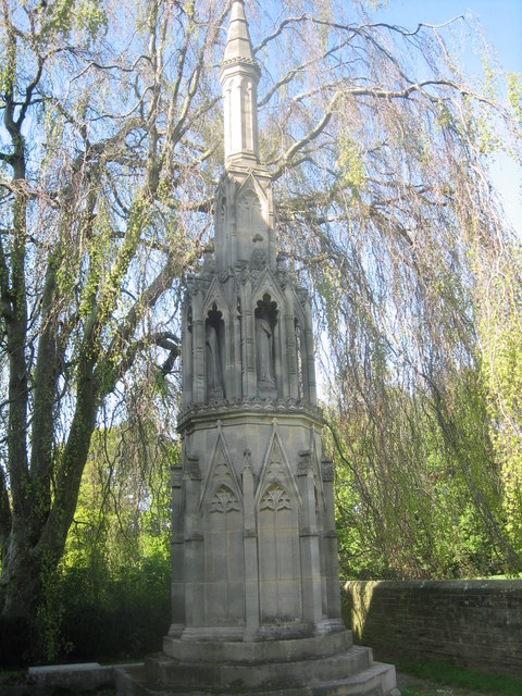 Monument in the churchyard at Christ the Consoler, Skelton