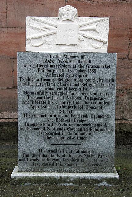 A Covenanter memorial in Loudoun Parish Churchyard