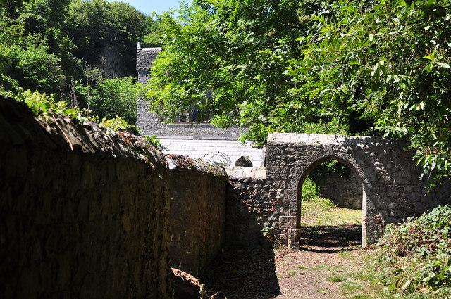 Stone arch - St Donat's Castle