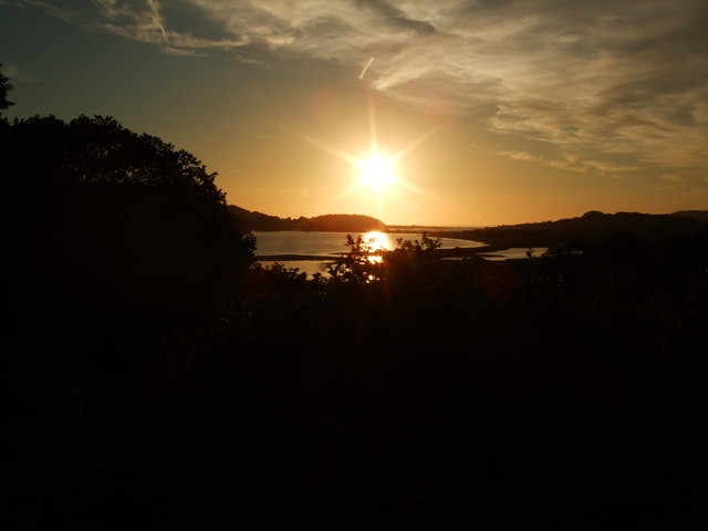 Sunset over River Conwy Estuary 21 June 2010