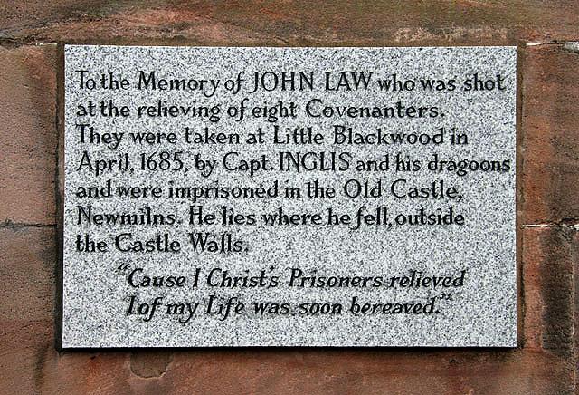 A Covenanter memorial stone at Loudoun Parish Church