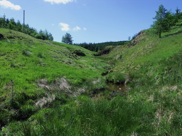 Castlerankine Burn tributary