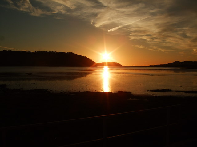 Sunset over Conwy Estuary 21 June 2010