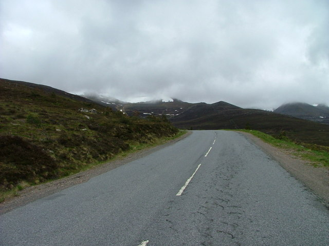 The road to Cairngorm Ski Centre