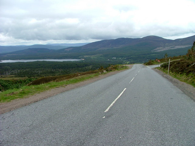 The road from Cairngorm Ski Centre