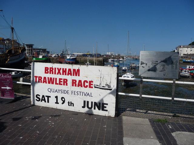 Brixham : Brixham Marina & Trawler Race Sign