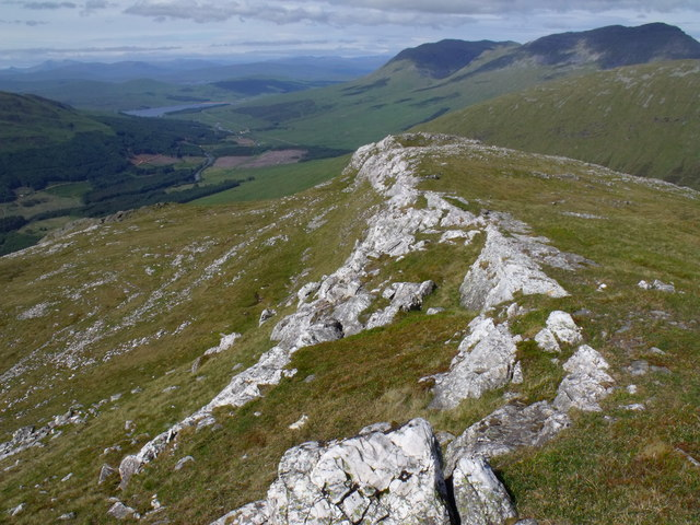 Upper section of quartzite dyke on Beinn Udlaidh above Glen Orchy