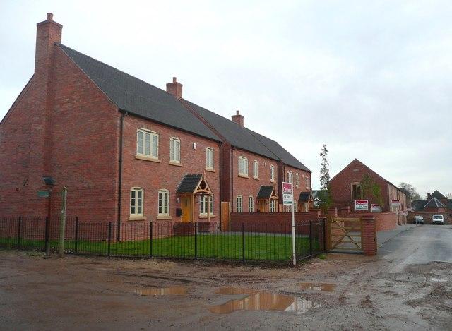 New houses, Barton under Needwood -