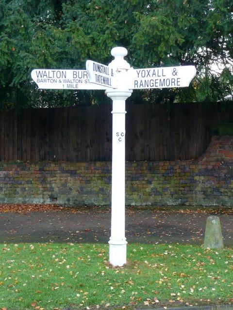 Old signpost, Barton under Needwood