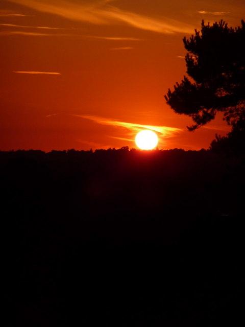Northbourne: summer solstice sunset (2)
