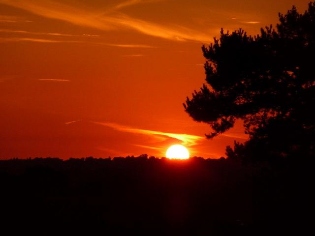 Northbourne: summer solstice sunset (3)