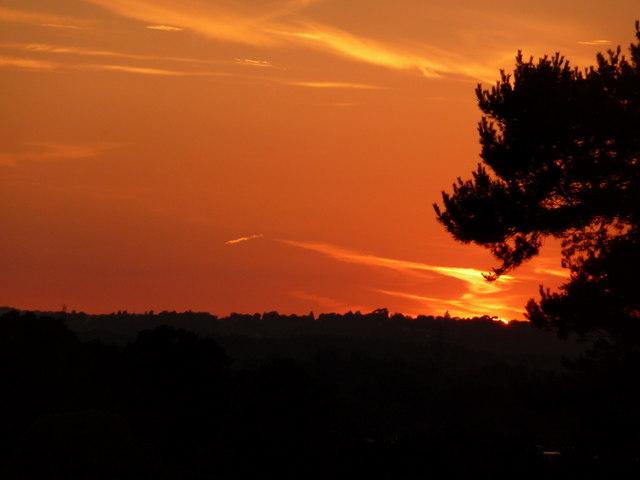 Northbourne: summer solstice sunset (4)