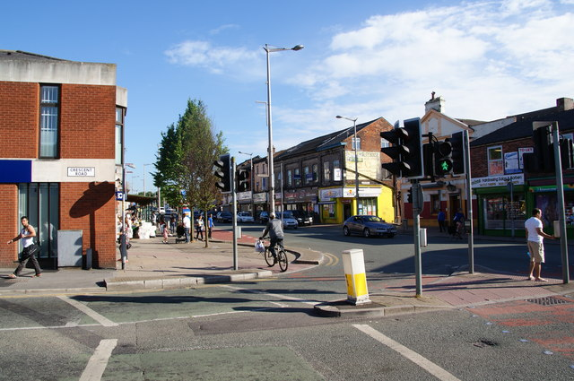 The junction of Crescent Road and Cheetham Hill Road