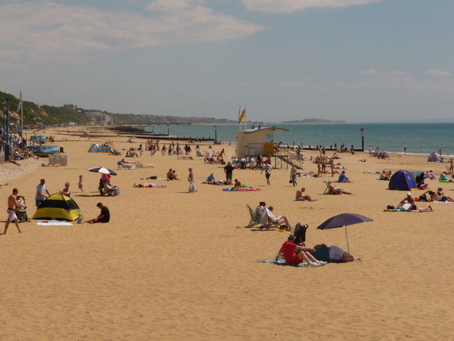 Bournemouth: the beach on the longest day