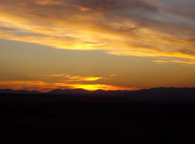 Bonnyton Moor at sunset