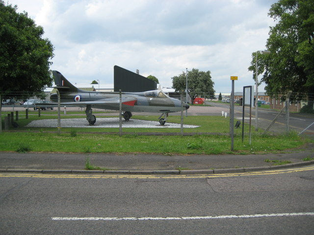 Henlow Camp: RAF Henlow and Hawker Hunter aircraft