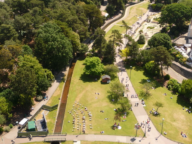 Bournemouth: the Lower Gardens from above
