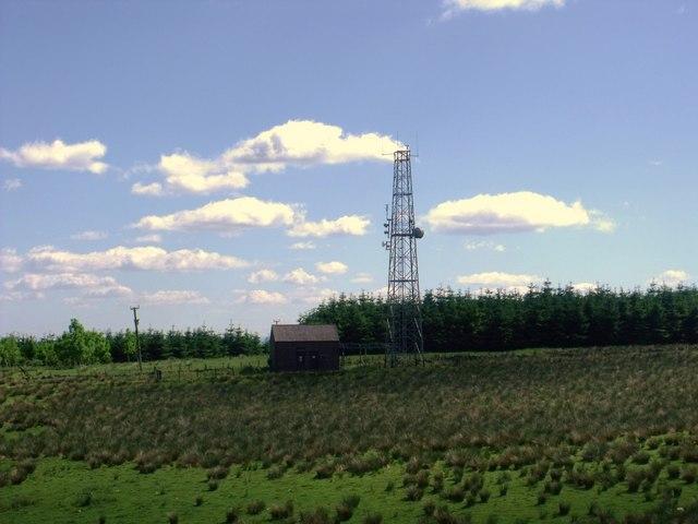 Telecomms mast at Doups