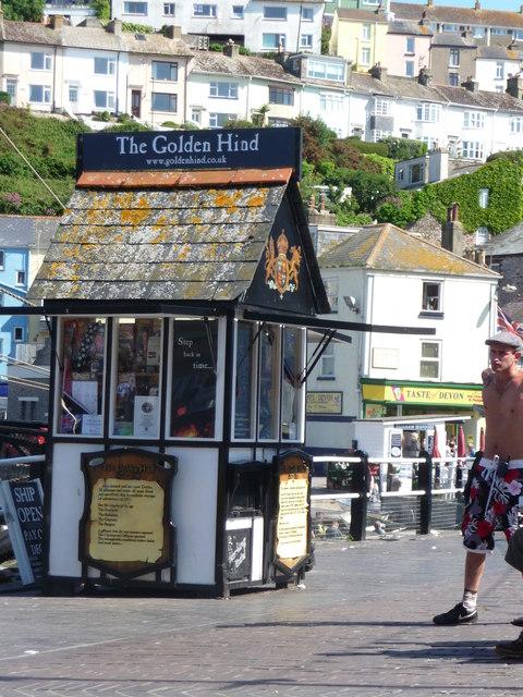 Brixham : The Strand & Golden Hind Kiosk