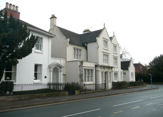 Two houses north of the war memorial, Barton under Needwood