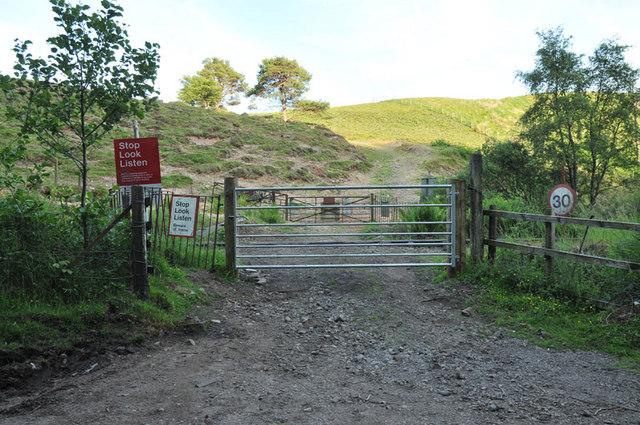 Farm crossing over the railway near Oban