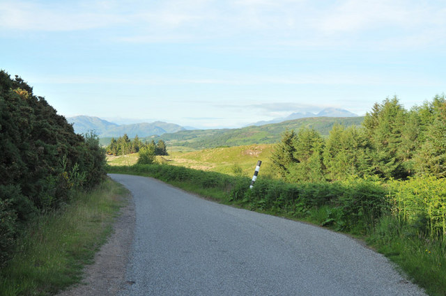 Minor road near Glencruitten House