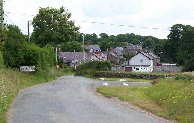 The western outskirts of the village of Efailnewydd