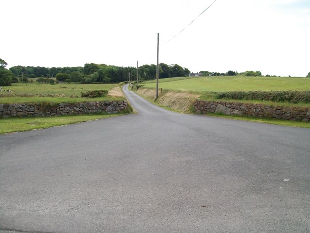 Farm road leading to Hendre Farm and Caravan Park