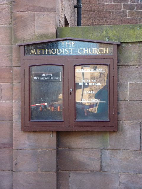 The Methodist Church, Seahouses, Notice board